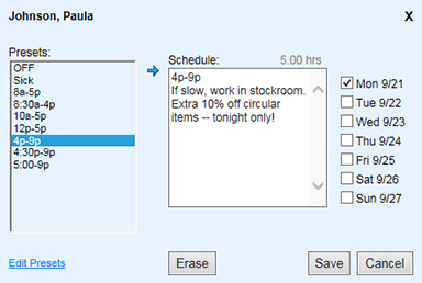 Flexible Employee Scheduling Software